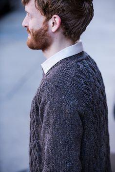 Пуловер с косами Denali от Норы Гауган, Бруклин Твид для мужчин.