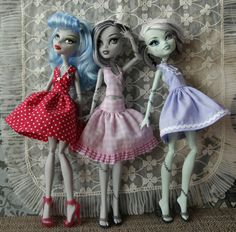 Monster High Dolls - Pattern for Dresses. $8.00, via Etsy.