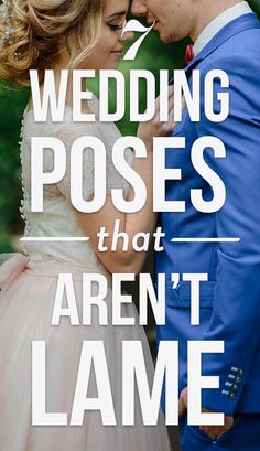 6 Wedding Poses That Aren't Lame (Ask Your Photographer To Take Them!) You can definitely discuss with them about the special wedding photo poses you'd love for them to capture before your big day.