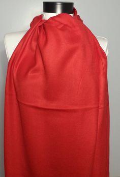 Pashmina Scarf - Red Pashmina Scarf - B708 #handmadeatamazon #nazodesign