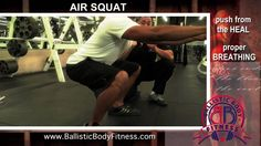 Air Squats for strong legs and a tight butt - BBF 90 Day Fitness Challenge Video #28  Ballistic Body Fitness / Personal Trainer Burbank