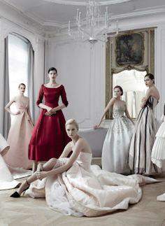 Vanity Fair France: Dior Haute Couture. Ph: Jean-Baptiste Mondino.