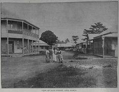The main street, Beach Road, Apia, Samoa, 1899