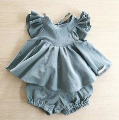 b5779673977 Goedkope 2019 Ins Europese & Amerika Zomer Peuter Kids Meisjes Clothings  Sets Ruches Prinses Baby Meisje