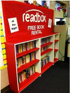 FOR MY TEACHER FRIENDS: Couldn't pass this up! Cute idea for reading corner.