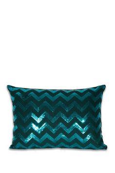 Chevron Sequin Pillow