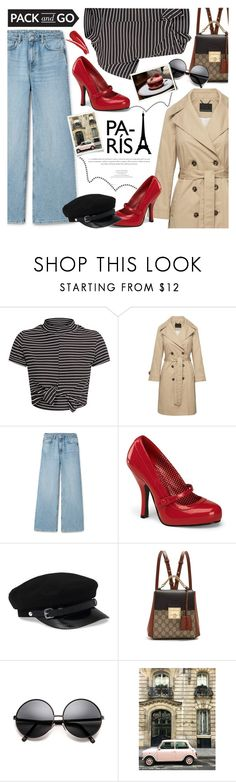 """""""Paris Getaway."""" by yoo-q ❤ liked on Polyvore featuring Pinup Couture, Gucci, paris, contestentry and Packandgo"""