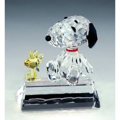Crystal World Snoopy & Woodstock Best Friends Limited Edition Figurine