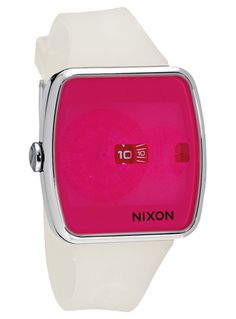 Nixon   Iris watch (via Watschismo): that is a big face for small numbers, but I'll forgive you because you're lovely