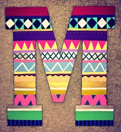 Hipster Patterned Letter  by ShortsNBowsNSuch on Etsy