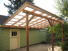 Image result for pergola with sloped roof