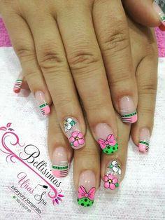 Fun Nails, Pedicure, Nail Designs, Hair Beauty, Nail Art, Nail Arts, Gorgeous Nails, Polish Nails, Pink Nail Art