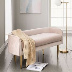 Bench Furniture, Small Furniture, Bedroom Furniture, Home Furniture, Bedroom Decor, Bench Decor, Millenial Pink, Bed Bench, Bench In Bedroom