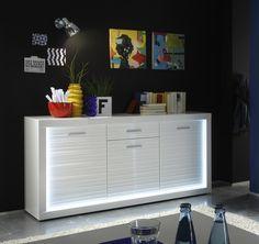 Modernes Und Trendiges Sideboard, Das Ein Hingucker Für Ihren Wohnbereich  Ist. Sideboard Weiss Mit Beleuchtung 77 00187 | Pinterest | Woody, Ein And  In