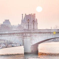 Winter sun in Paris, .