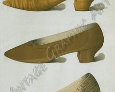 Vintage Illustrations for Decoupage, Wall Art Prints, Collages Ladies' dress shoes of the nineteenth century 036 Decoupage, Kitten Heels, Vintage, Shoes, Zapatos, Shoes Outlet, Shoe, Vintage Comics, Footwear