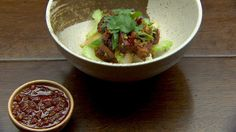 Spicy XO Pork Belly with Rice Cakes