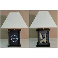 * Fully functioning Accent lamp with a rapid response concealed compartment for your primary defense weapon * Completely conceals any full size Handgun and extra Magazine * Fully. Hidden Gun Cabinets, Hidden Gun Storage, Hidden Compartments, Secret Compartment, Country Furniture, Bathroom Art, Bathrooms, Custom Furniture, Furniture Decor