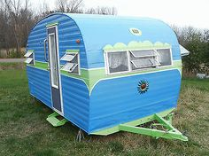 "Vintage ""Teardrop / canned ham Recreation by design travel LLC trailer / camper"