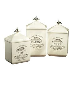 Maison Canister Set by Jay Import on #zulily today!