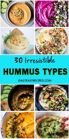 "30 ""Irresistible"" Hummus Types – My Recipes and Meal Plans Vegan Appetizers, Vegan Snacks, Appetizer Recipes, Healthy Snacks, Vegan Recipes, Healthy Eating, Cooking Recipes, Dip Recipes, Creamy Hummus Recipe"