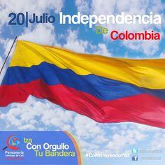 ::: INDEPENDENCIA DE COLOMBIA :::  Este 20 de Julio no olvidemos izar nuestro pabellón nacional celebrando los 206 años del Grito de Independencia y la oportunidad de escribir un nuevo capítulo de paz para nuestra nación.  #ConstruyendoPaz  |  #SíALaPaz   | #20deJulio