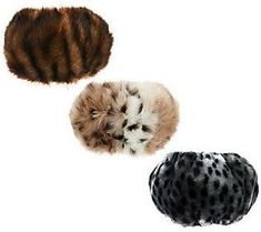 Dennis Basso Set of 3 Faux Fur Boot Toppers