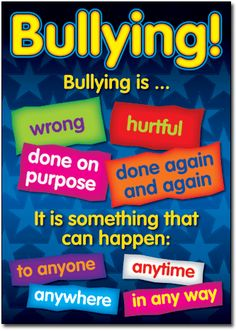 Essential resource for every classroom/teacher. What is bullying? How to deal with bullying? What are bystanders? How to be cybersmart! What is cyberbullying? Bullying Bulletin Boards, Elementary Bulletin Boards, Classroom Bulletin Boards, Anti Bullying Week, Anti Bullying Activities, Cyber Bullying, Anti Bullying Lessons, Classroom Rules Poster, Classroom Charts