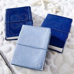 Indigo Embossed Leather Journal