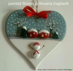 Try these Cute Christmas Rock Painting ideas for Kids – Total Survival – BuzzTMZ Christmas Pebble Art, Christmas Clay, Christmas Makes, Christmas Projects, Christmas Ornaments, Christmas Landscape, Stone Crafts, Rock Crafts, Holiday Crafts