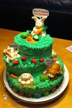 Coolest Homemade Bunny Birthday Cake