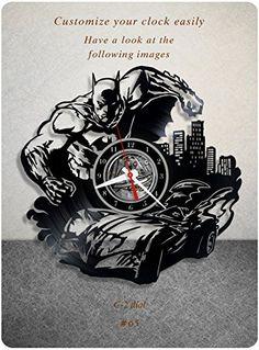Batman vinyl wall clock, vinyl record clock, batmobile br...