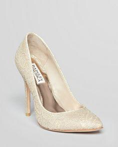 ShopStyle.com: Badgley Mischka Pointed Toe Pump - Balance II Lace High Heel $150.00
