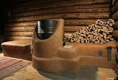 "mass rocket heater | Rocket mass heater in a Shamen center in France. From ""Rocket stoves ..."