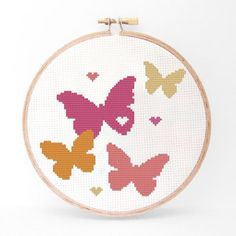 Butterfly Cross Stitch Kit II, $18, now featured on Fab.