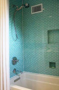 Bathroom Glass Subway Tile