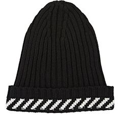 We Adore: The Stripe-Detailed Virgin Wool-Blend Beanie from Off-White c/o Virgil Abloh at Barneys New York