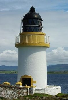 Port Charlotte Lighthouse, Loch Indaal, Isle of Islay, Scotland by Divonsir Borges