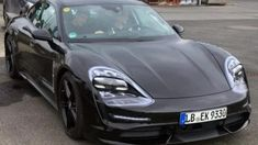 Porsche Taycan looks uncannily similar to the Mission E without its headlight camoA recent sighting of a Porsche Taycan prototype has provided a surprisingly refreshing look at the upcoming all-electric four-door sedan. Just months before the vehicle Spy Shows, Front End Design, Headlight Covers, Mission E, Porsche Taycan, Automotive News, Performance Cars, Electric Cars, Sport Cars
