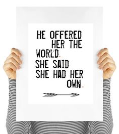 Determined feminist woman quote  digital by MyDaisyDownloads