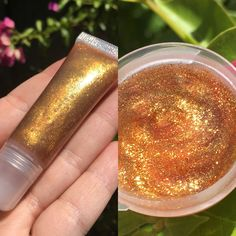 MIDAS TOUCH is a clear lipgloss full of sparkle! Wear alone or over lipstick. This glitter filled gloss is infused with light-reflecting cosmetic glitter, this non-sticky gloss illuminates lips with s Glitter Lip Gloss, Glitter Lipstick, Lipstick Art, Maroon Lipstick, Green Lipstick, Glitter Uggs, Glitter Slime, Glitter Crafts, Glitter Eye