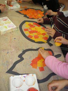 Mrs. Bremer's Class: Autumn Art tissue fall leaves