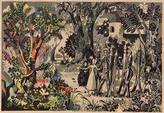 illustration by Heinz Kiessling for Malbuchgeschichten by Ilse Firbas (Germany, 1949)