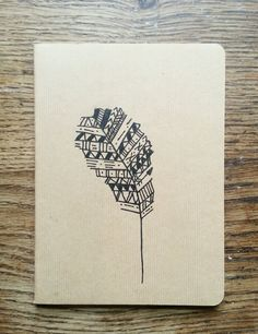 Aztec Feather Mini Hand Drawn Notebook by LuciesLittleCrafts, £5.50