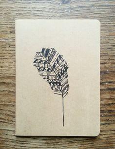 Aztec Feather Mini Hand Drawn Notebook by LuciesLittleCrafts, £5.50