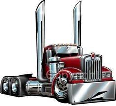 cartoon semi truck pictures | Kenworth Big Rig Semi Truck Cartoontees Tshirt 2015 Freight Hauler