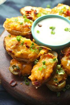Buffalo Twice Baked Potatoes - The Seaside Baker