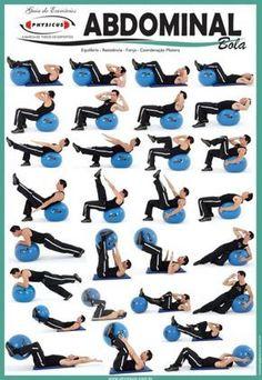 abdominales con pelota #ejercicio #salud