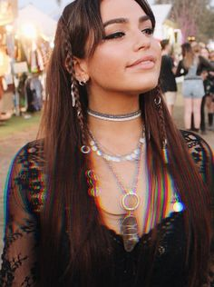 From the latest beauty trends to our favourite hairstyles, find all you need to know about makeup, skincare and plenty more. Look Festival, Rave Festival, Festival Outfits, Festival Fashion, Rave Hair, Boho Makeup, Splendour In The Grass, Lilac Hair, Look Boho