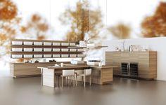 A italiana Scavolini (www.scavolini.com) apresenta sua cozinha KI, desenvolvida em parceria com o japonês Oki Sato, do escritório Nendo. Com design conciso e minimalista, KI pode ser montada de forma linear ou em ilha. Essa é uma das novidades da EuroCucina, evento que fez parte do Salão Internacional do Móvel de Milão de 2014
